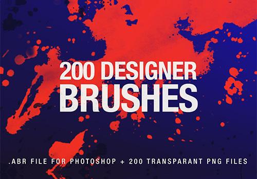 200个设计师画笔PS笔刷合集