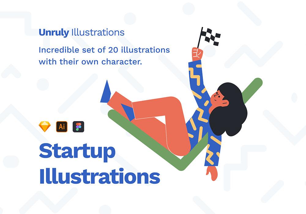 20个精心设计的网页矢量插图素材 Unruly Illustrations