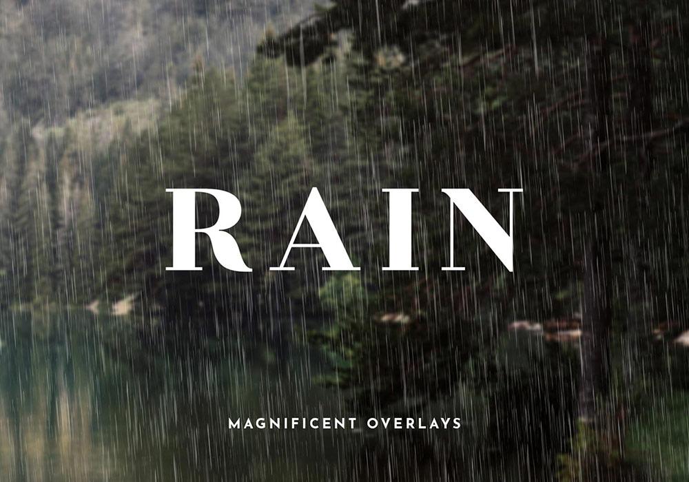 20个超真实的下雨纹理叠加纹理图案免费下载