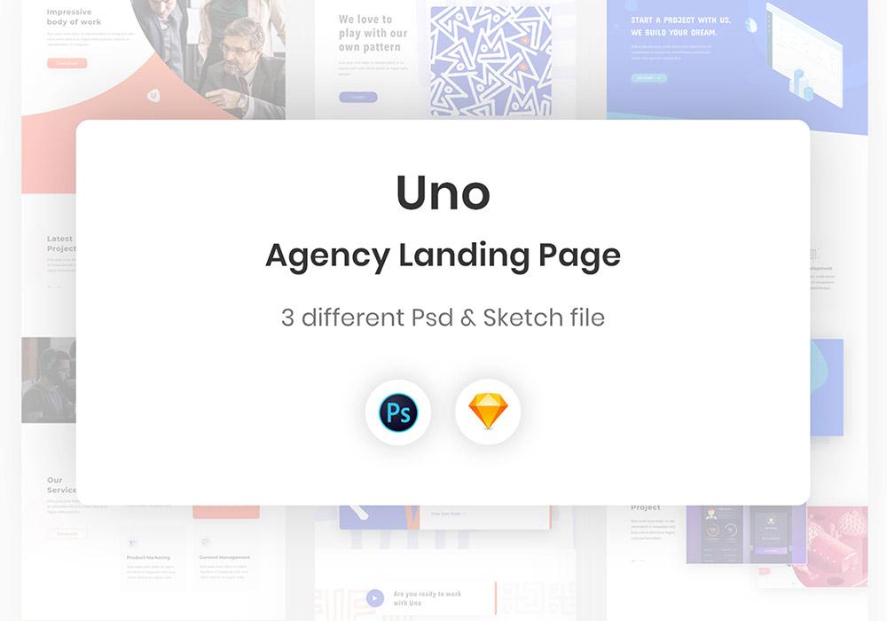 创意机构Web网页设计模板素材 Uno Agency Web Template