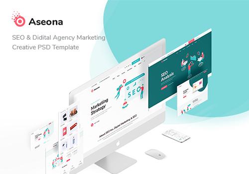 SEO数字营销PSD网页模板SeoMoz