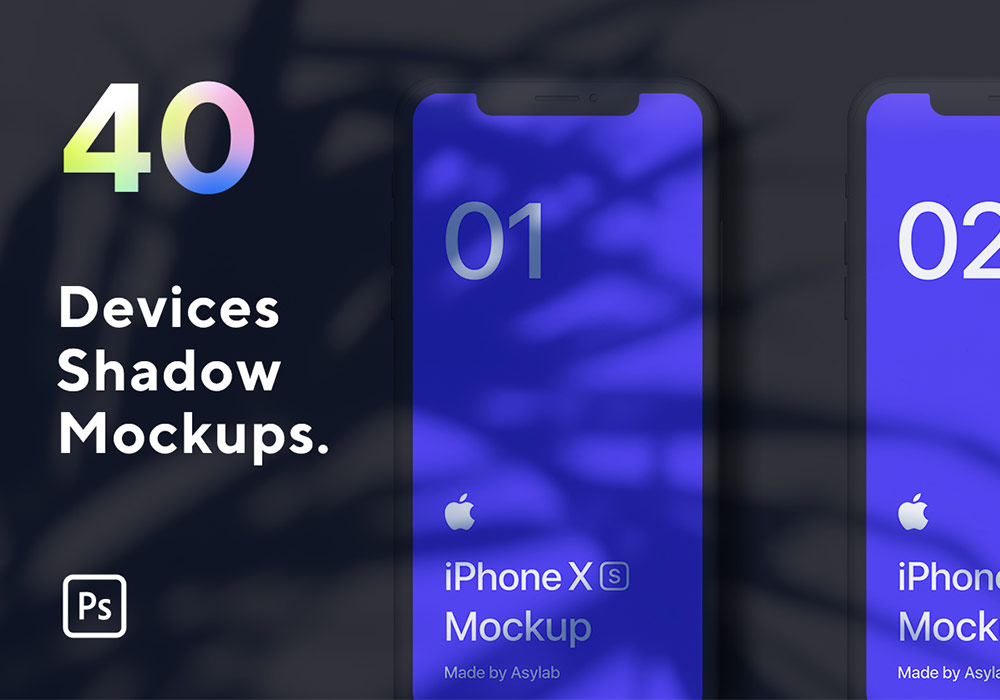 40套苹果设备模型场景样机模板 Devices Shadow Mockups