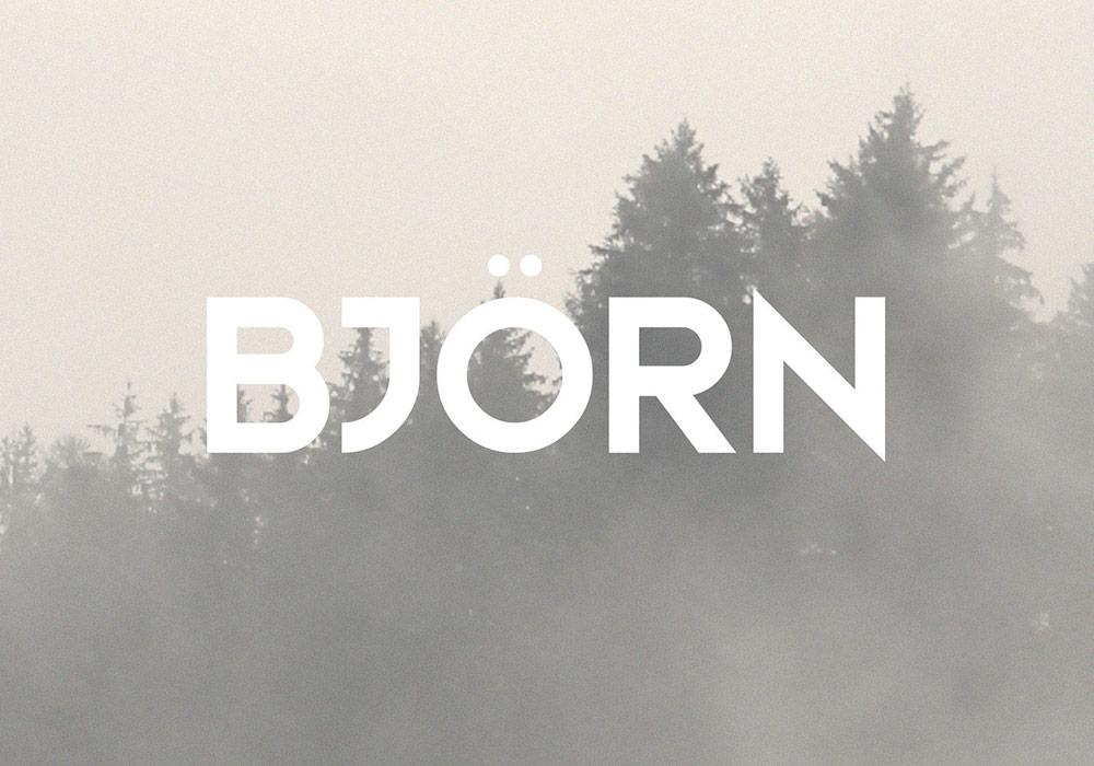 锋利刚硬的英文字体Bjorn Typeface