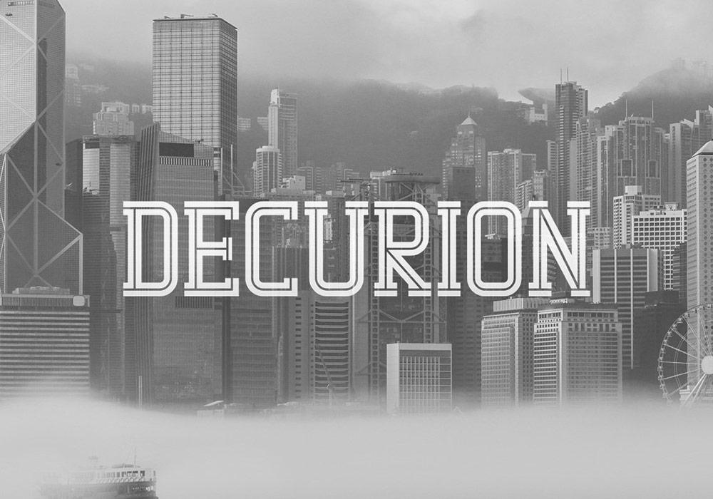 英文字体Decurion Typeface下载,包含6种文字样式