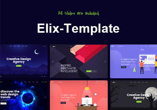 设计师,艺术家和代理商的超级PSD网页模板Elix