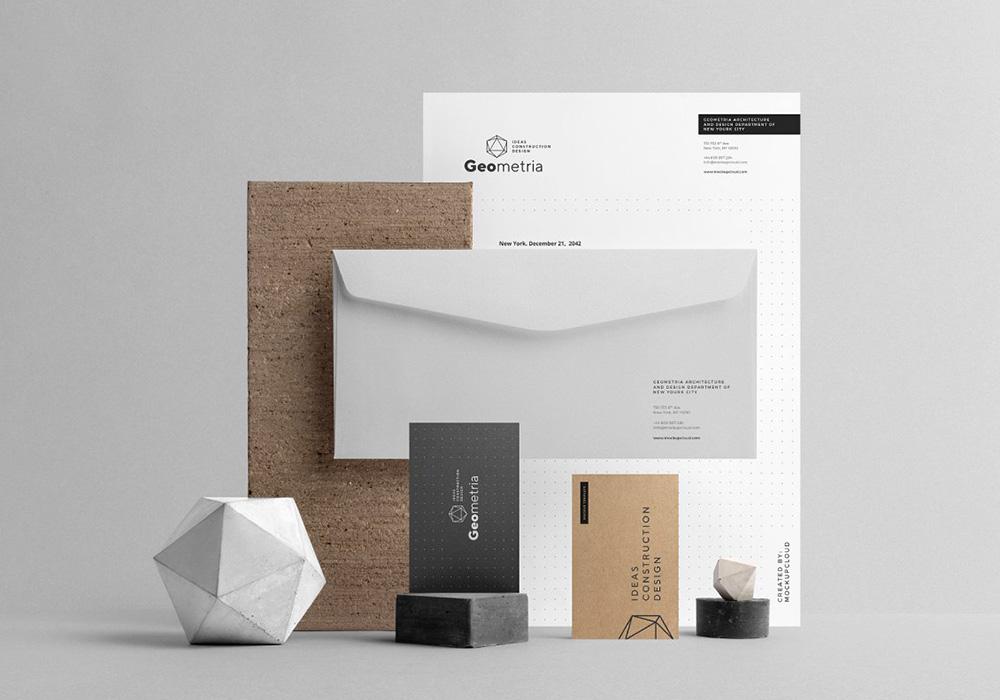 高品质品牌形象VI设计样机模板 Geometria Branding Mockup