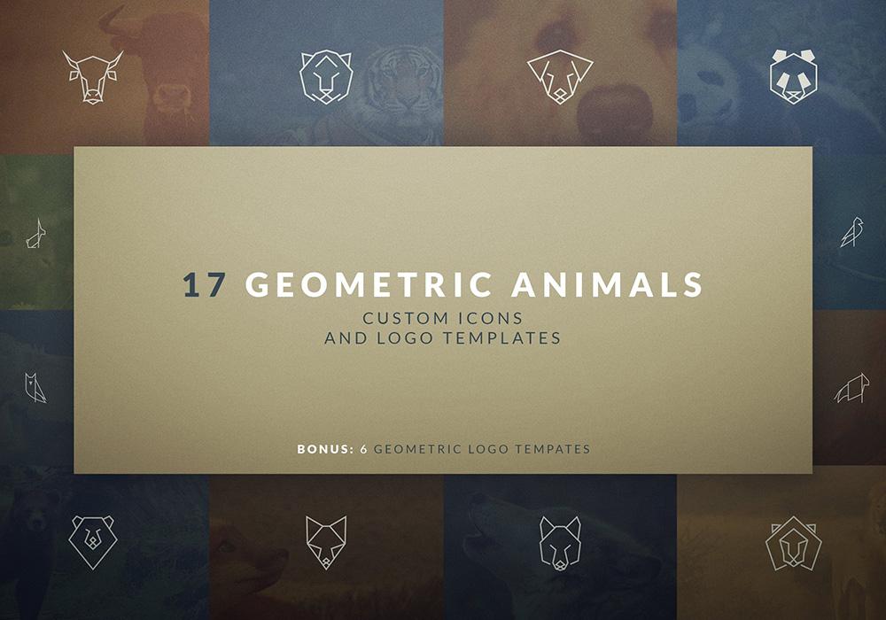 高品质矢量几何动物图标和标志 Geometric Animal