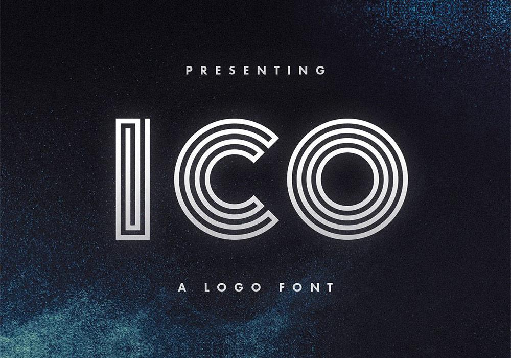 优雅线性英文LOGO字体Ico Logo Font