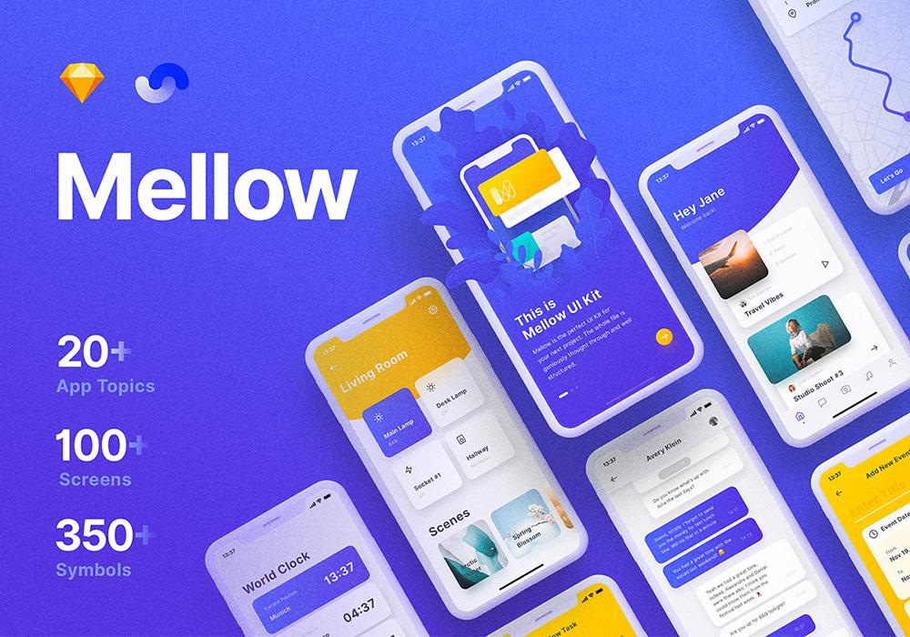 整套基于Shift设计系统的iOS UI工具包 Mellow iOS UI Kit