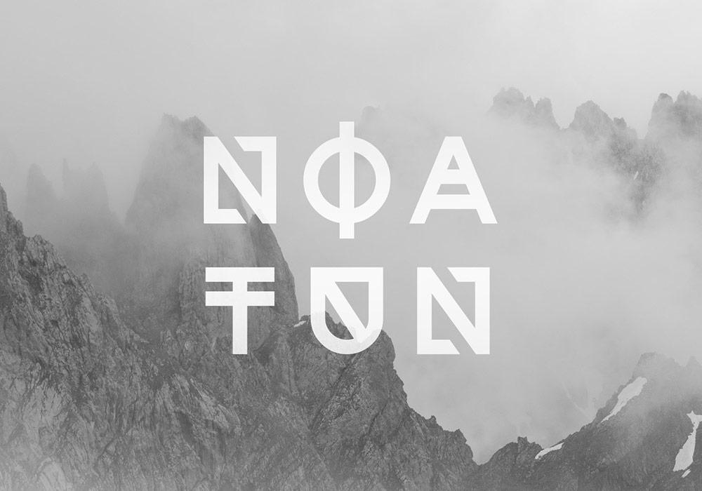 图形样式英文字体Noatun Typefac(含2种字体样式)