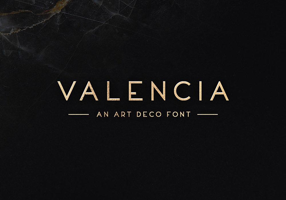 时尚英文字体Valencia Typeface下载