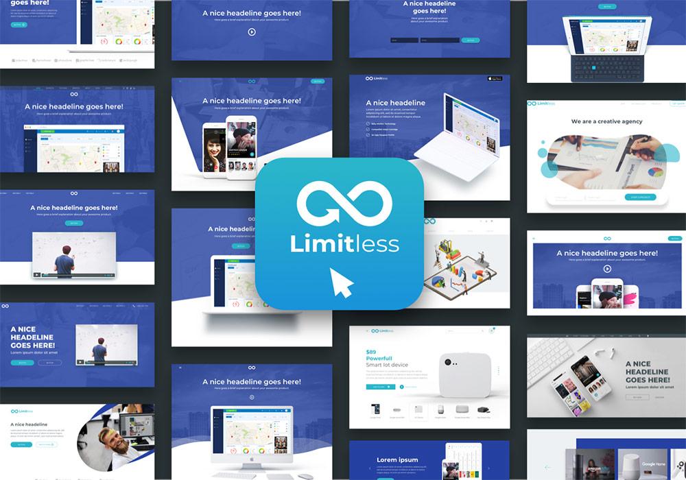 网页布局排版Web UI组件设计工具包 Limitless for Web