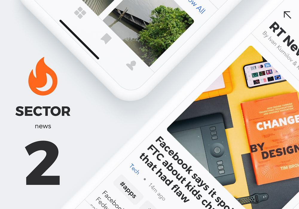 20个高质量的新闻应用UI模板 Sector UI Kit News