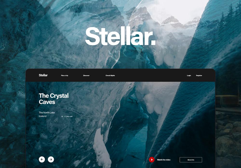 时尚大气旅游行业 Web UI 套件 Stellar Web UI Pack