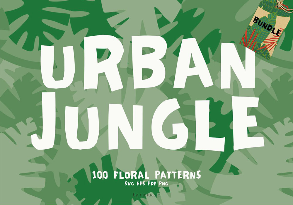 100套城市丛林图案套装 Urban Jungle 100 Patterns Bundle