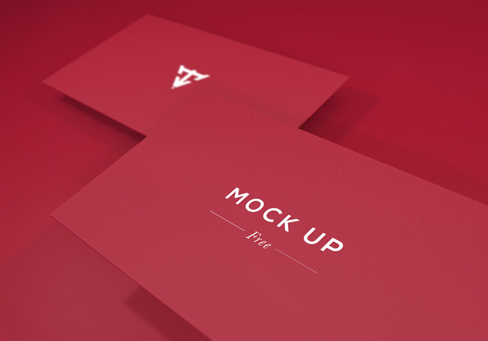 6个免费名片样机 Free Business Card Mockups