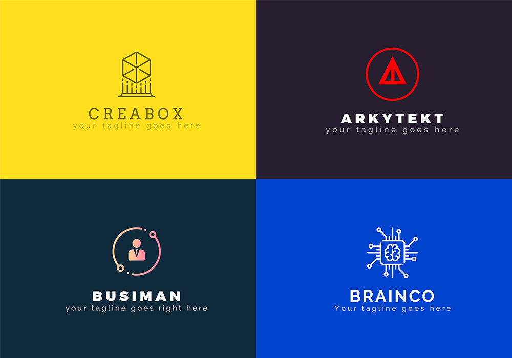 55款具有不同主题的LOGO集合 Creative Logo Bundle