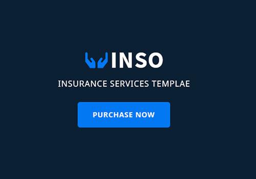 金融保险业务PSD网页模板 Vinso