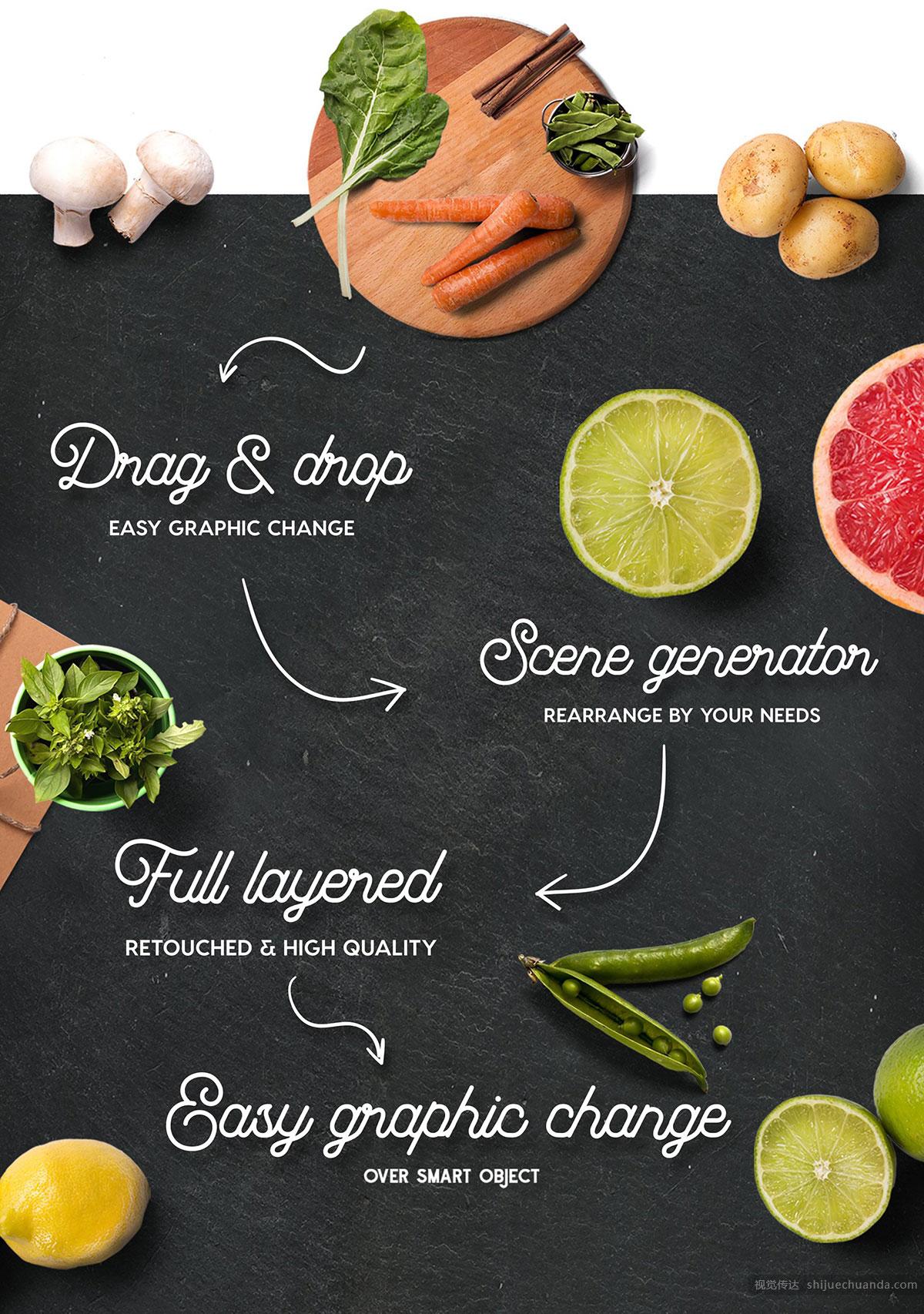 有机食品场景模型样机 Organic Food Scene Generator