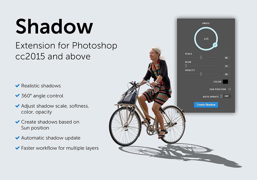 逼真的阴影生成器PS插件 Shadow Photoshop Extension(附教程)