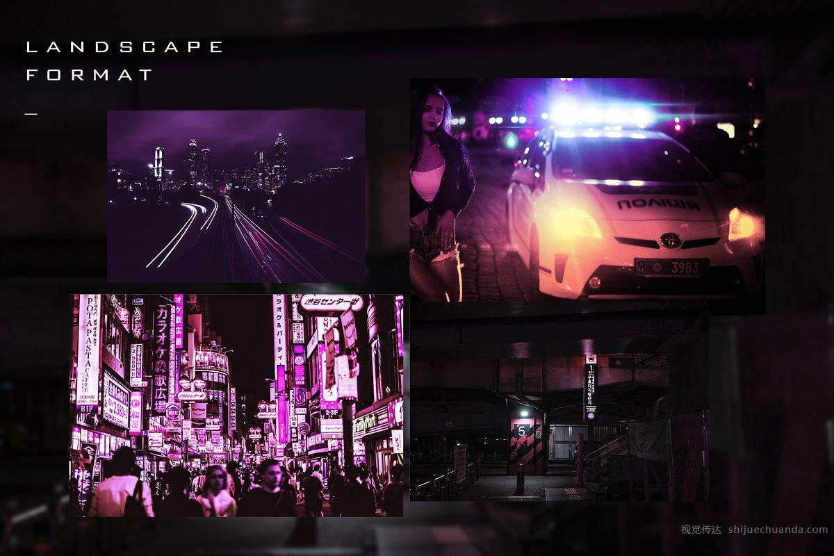 赛博朋克PS特效样机 Cyberpunk Photoshop Effects