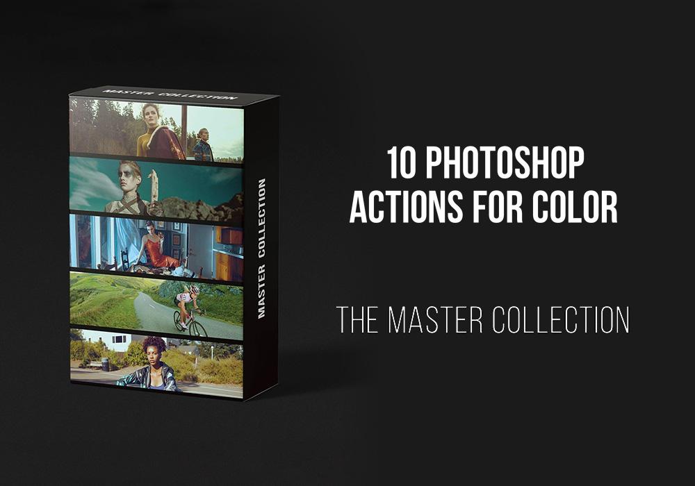 10个大师级收藏电影级色彩的PS动作 Photoshop Actions for Color