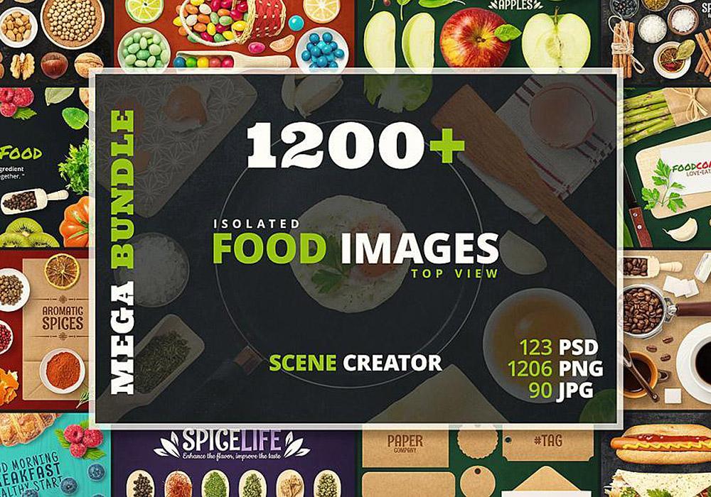 千种食物图片PSD源文件图片素材 Isolated Food Images