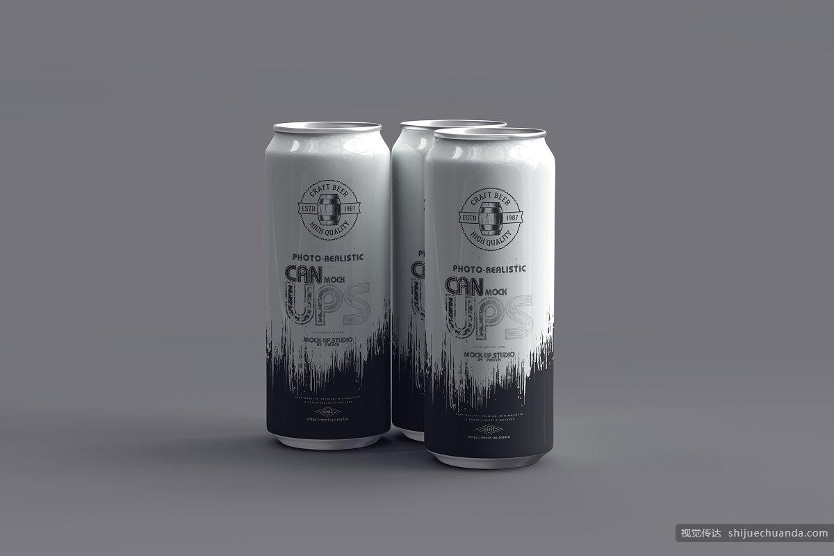 550ml 可乐/啤酒罐样机 Can Mockups