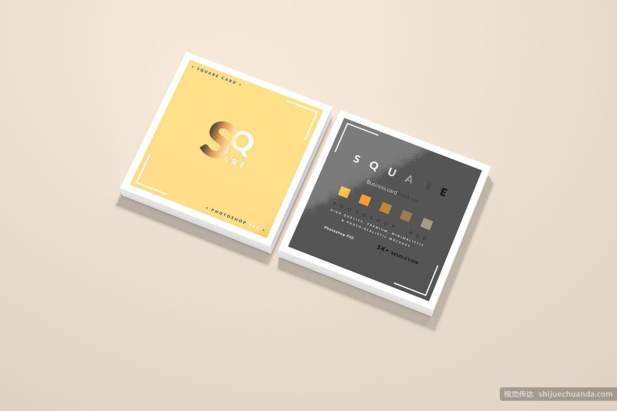 高端方形名片卡片样机