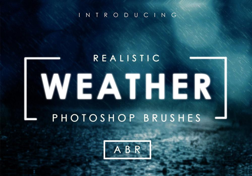 75个逼真的天气画笔 Realistic Weather Brushes