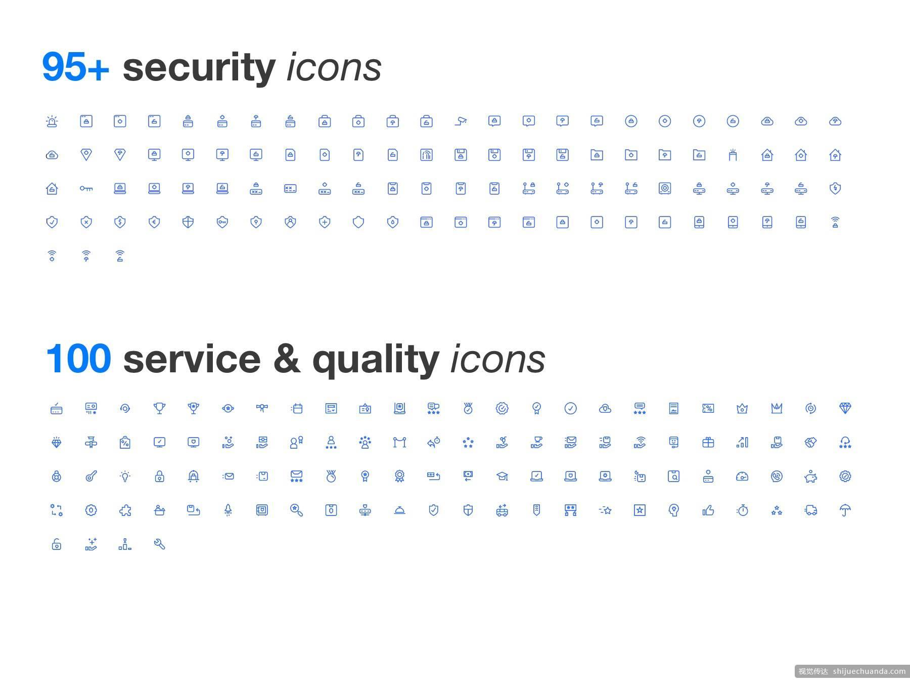 880+专为iOS设计优质线性APP图标集
