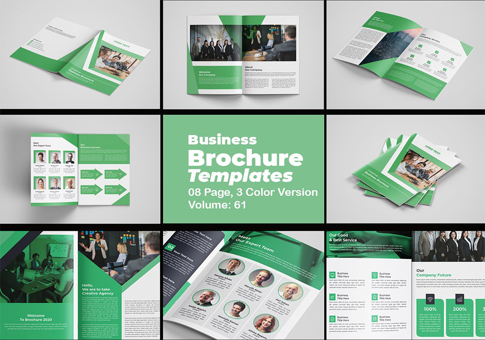 3种颜色宣传册画册模板 Brochure Template