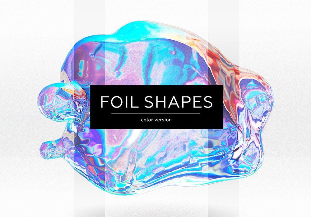 锡纸金箔形状颜色元素 FOIL SHAPES color version