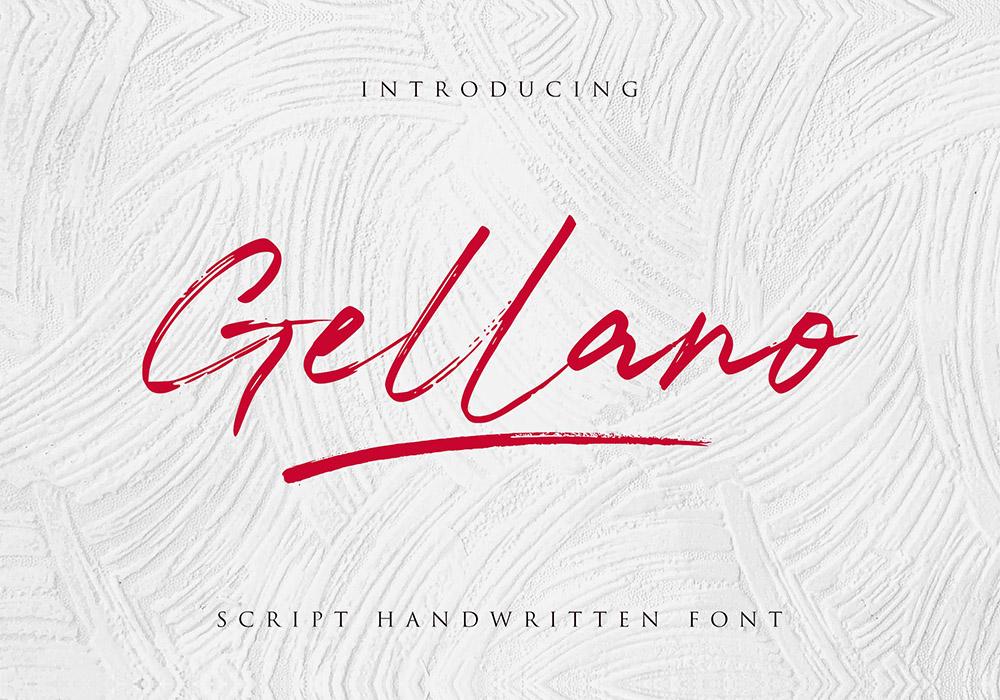 英文字体 Gellano