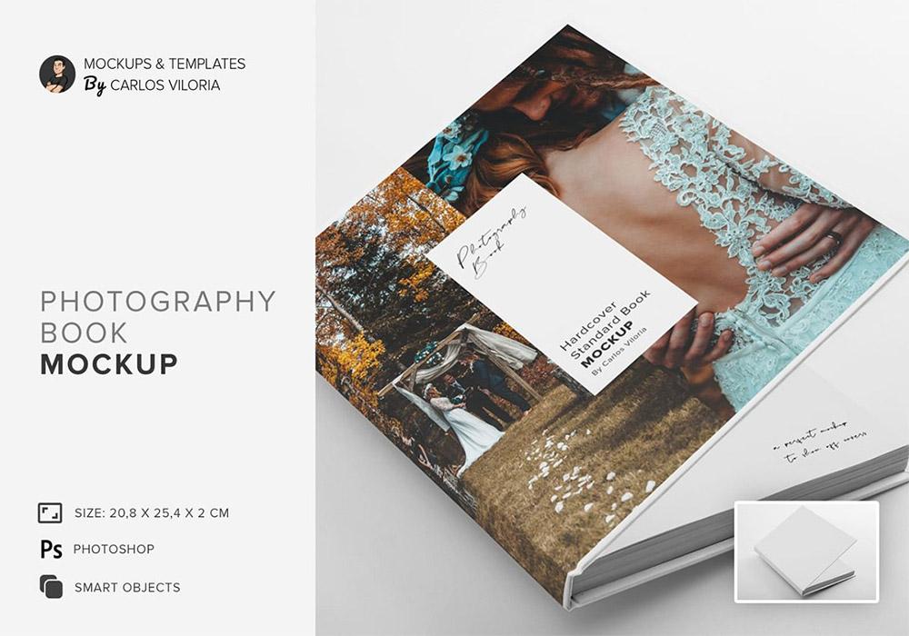 精装摄影相册样机模板 Hardcover Photo Book Mockup
