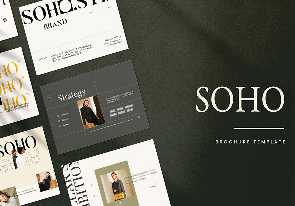 品牌策略手册PSD模板 SOHO-Brand Strategy