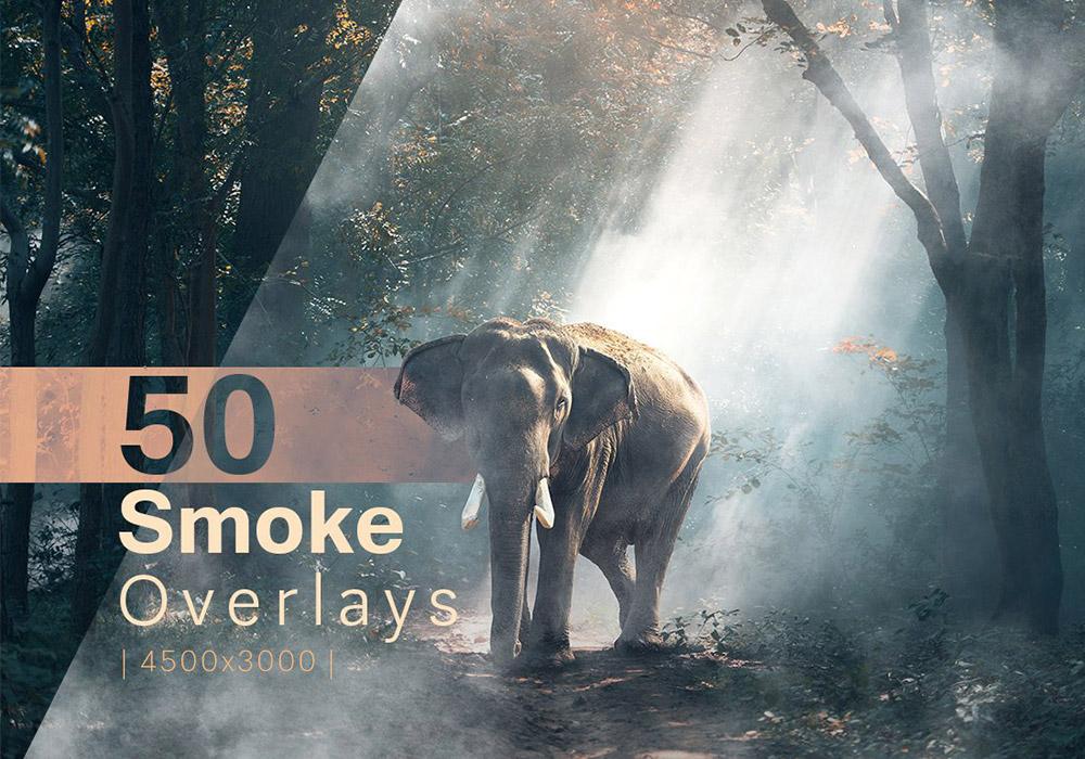50张真实的烟雾叠加效果纹理 Smoke Overlays