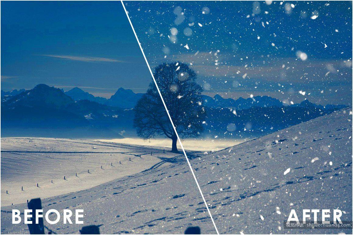 雪景效果叠加覆盖层 Snow Effect Overlays