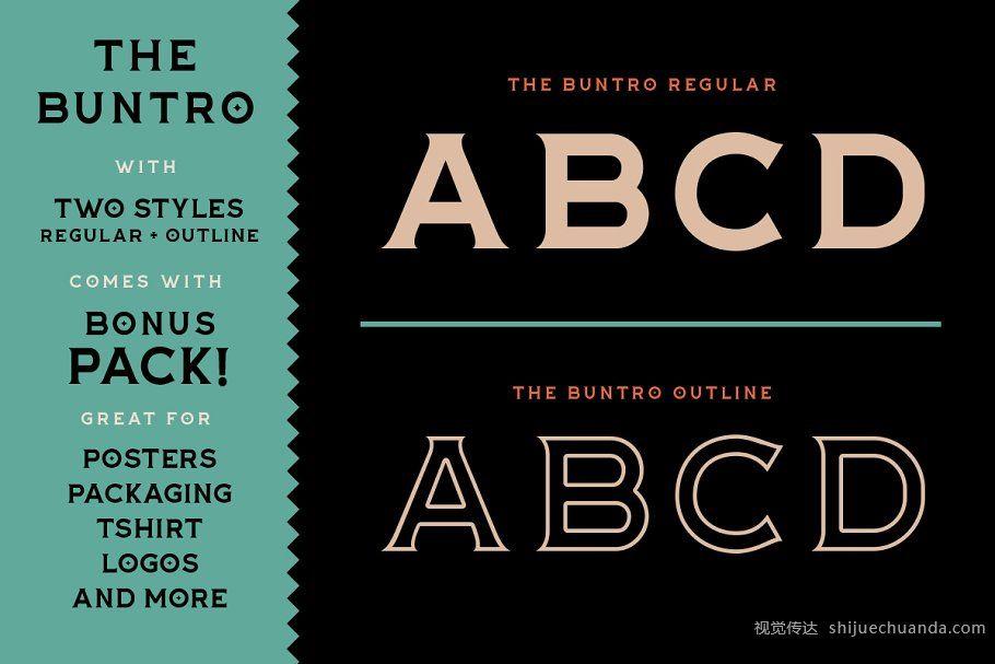 极具街头文化英文字体 The Buntro Typeface (+EXTRA)