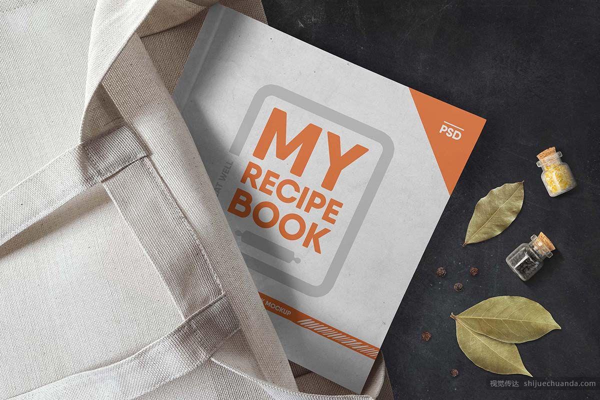 精装书籍包装样机 Soft Cover Book Mockup