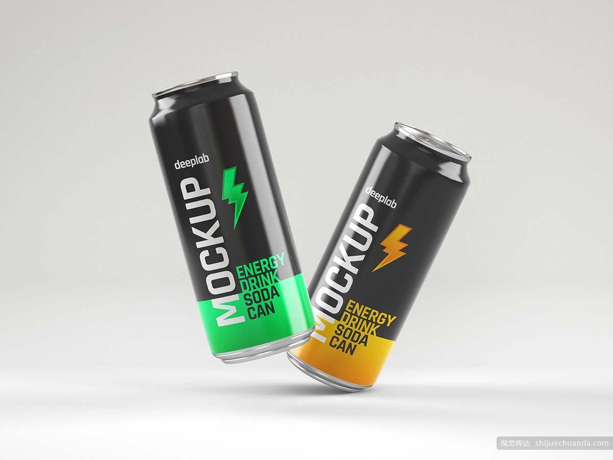 汽水罐可乐罐果汁包装样机合集 Glossy Soda Can Mockup Set