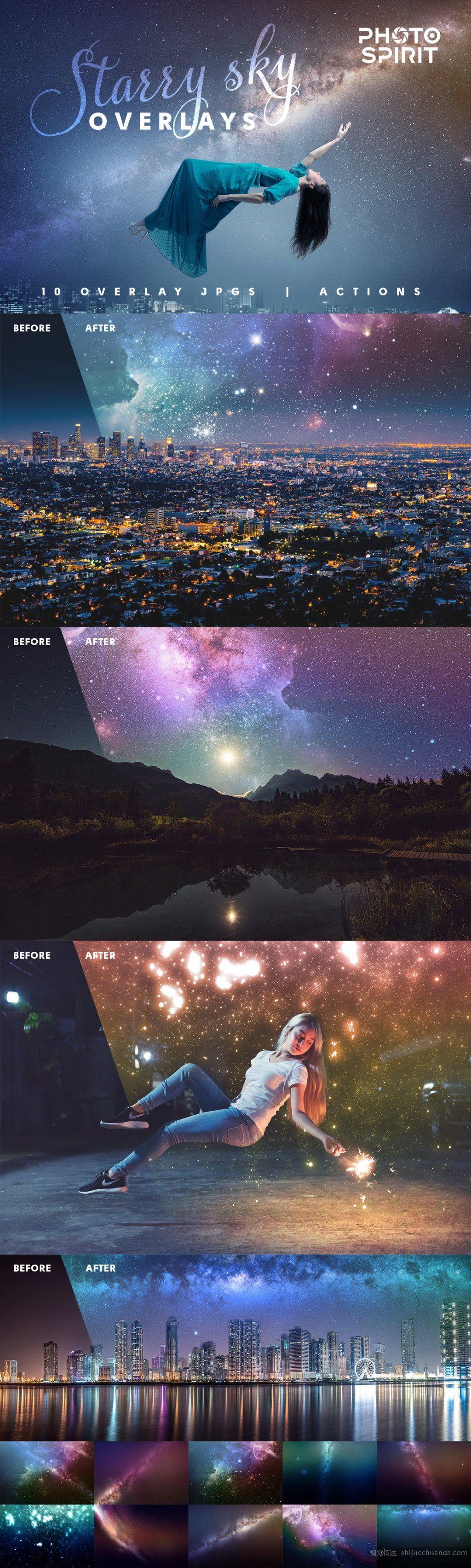 1000+高清图片叠加覆盖层和PS动作