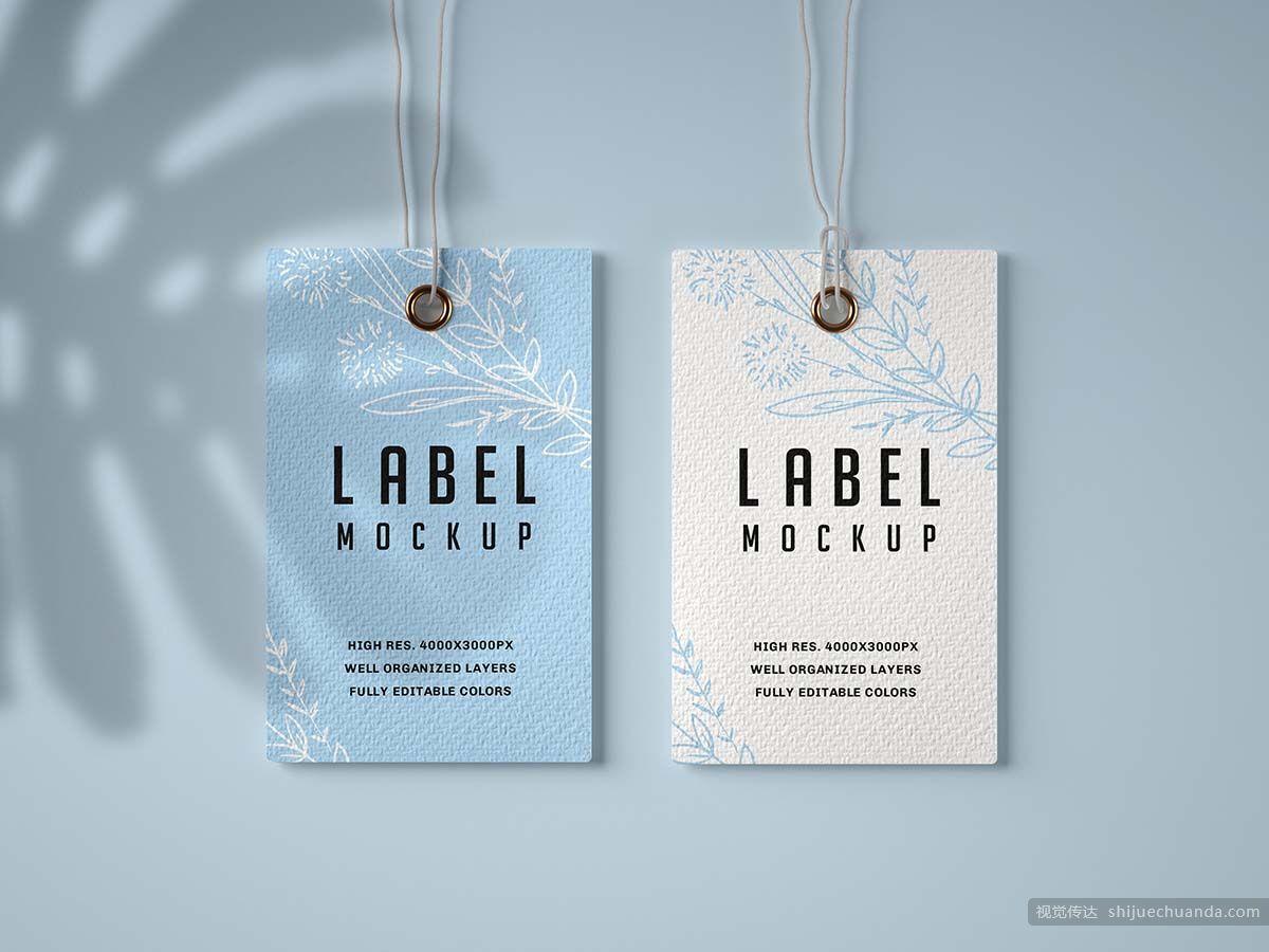 纸质牛皮纸标签样机集合 Paper & Kraft Label Mockup Set