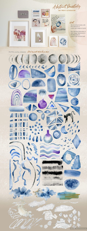 抽象绘画水彩艺术画笔 Abstract Watercolor Brushes