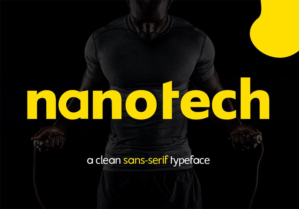 干净的无衬线英文字体 Nanotech LLC