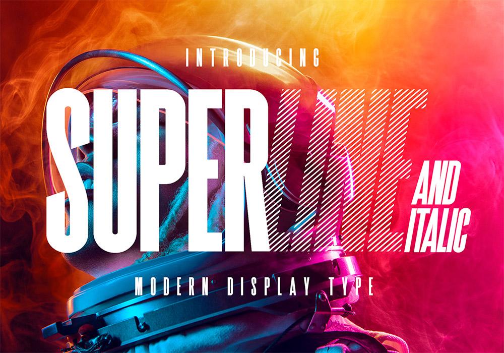 三种风格的醒目现代显示字体 SuperLine Display Typeface