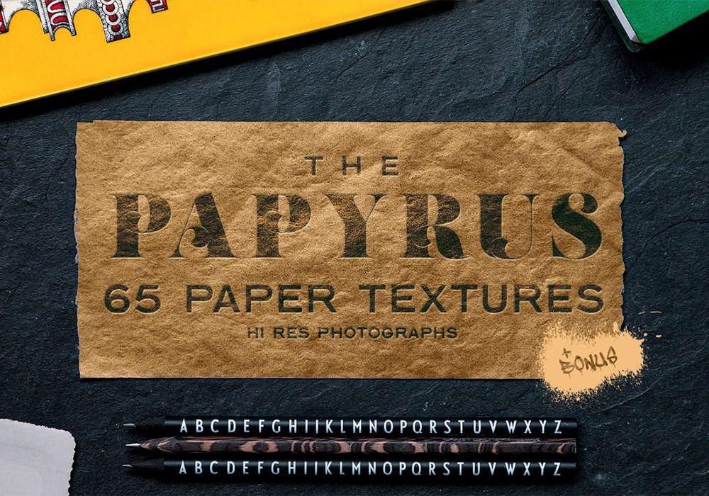 复古绘画莎草纸张纹理背景素材  65 Paper Textures