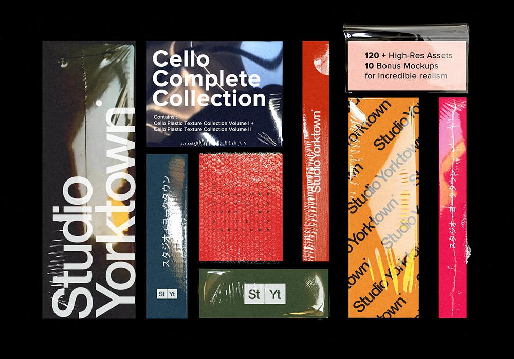 透明真空压缩薄膜素材合集 Cello COMPLETE Texture Collection