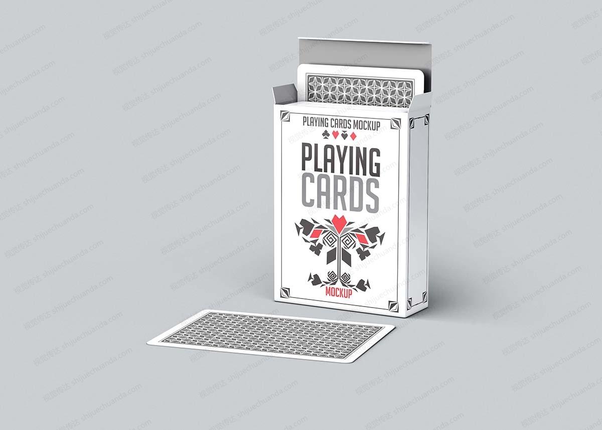 纸牌扑克牌样机模板