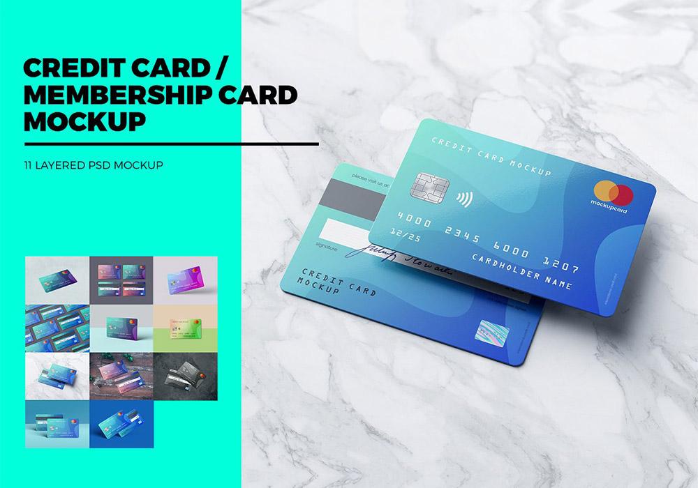 信用卡/会员卡/银行卡样机 Credit Card / Membership Card MockUp